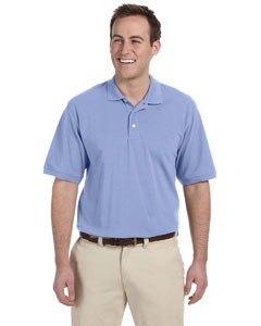 Light College Blue Men's 5.6 oz. Easy Blend Polo
