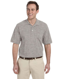 Grey Heather Men's 5.6 oz. Easy Blend Polo