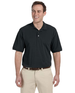 Black Men's 5.6 oz. Easy Blend Polo