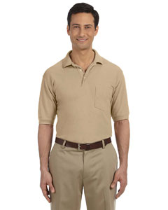 Stone 5.6 oz. Easy Blend Polo with Pocket