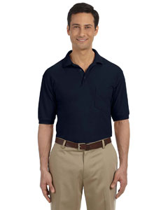 Navy 5.6 oz. Easy Blend Polo with Pocket