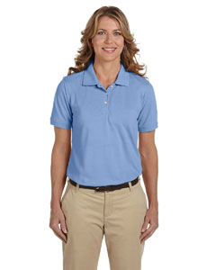 Light College Blue Women's 5.6 oz. Easy Blend Polo