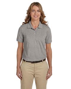 Grey Heather Women's 5.6 oz Easy Blend Polo