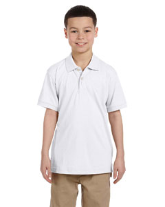 White Youth 5.6 oz. Easy Blend™ Polo