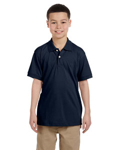 Navy Youth 5.6 oz. Easy Blend™ Polo