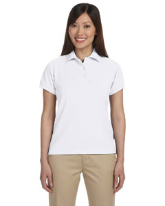 White Women's 5 oz. Blend-Tek Polo