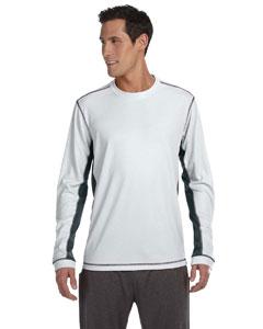 White/slate Men's Long-Sleeve T-Shirt