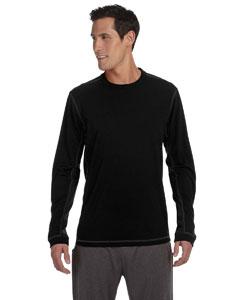 Black Men's Long-Sleeve T-Shirt