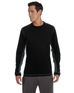 Black/slate Men's Long-Sleeve T-Shirt