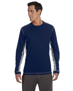 Navy/grey Men's Long-Sleeve T-Shirt