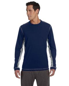 Navy/grey Men's Long-Sleeve T-Shirt