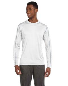 White/grey Men's Long-Sleeve Interlock Pieced T-Shirt