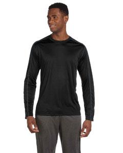 Black/slate Men's Long-Sleeve Interlock Pieced T-Shirt