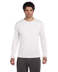 White Hthr Trblnd Men's Performance Triblend Long-Sleeve T-Shirt