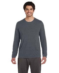 Grey Hthr Trblnd Men's Performance Triblend Long-Sleeve T-Shirt