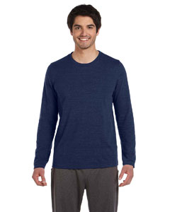 Navy Hthr Trblnd Men's Performance Triblend Long-Sleeve T-Shirt