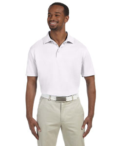 White Men's 4 oz. Polytech Polo