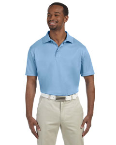 Light Blue Men's 4 oz. Polytech Polo