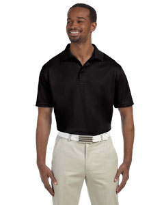 Black Men's 4 oz. Polytech Polo