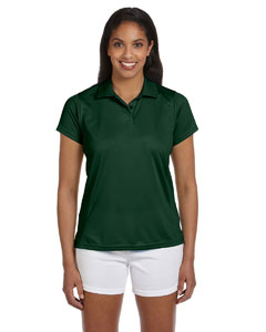 Dark Green Women's 4 oz. Polytech Polo