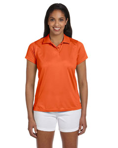 Team Orange Women's 4 oz. Polytech Polo