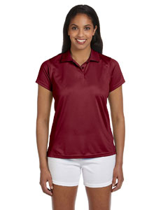 Maroon Women's 4 oz. Polytech Polo