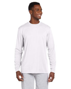 White 4.2 oz. Athletic Sport Long-Sleeve T-Shirt