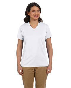 White Women's 4.2 oz. Athletic Sport T-Shirt