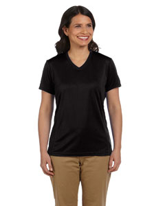 Black Women's 4.2 oz. Athletic Sport T-Shirt