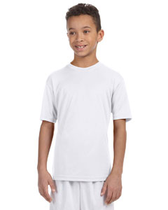 White Youth 4.2 oz. Athletic Sport T-Shirt