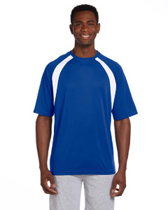 True Royal/white 4.2 oz. Athletic Sport Colorblock T-Shirt