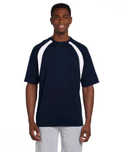 Navy/white 4.2 oz. Athletic Sport Colorblock T-Shirt