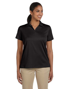 Black Women's 3.5 oz. Double Mesh Sport Shirt