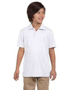White Youth Double Mesh Sport Shirt