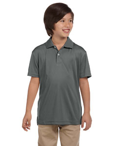 Charcoal Youth Double Mesh Sport Shirt