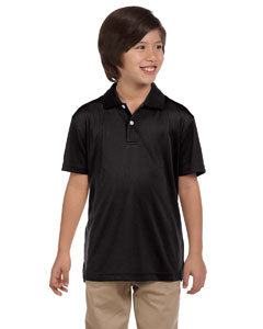 Black Youth Double Mesh Sport Shirt