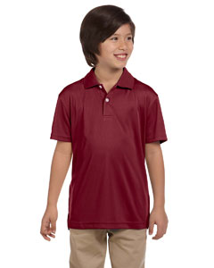 Maroon Youth Double Mesh Sport Shirt
