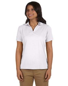White Women's 3.8 oz. Micro Piqué Polo