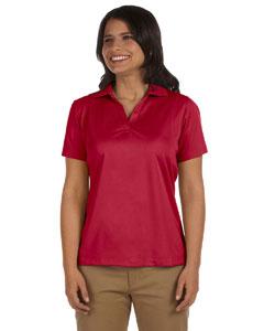 Red Women's 3.8 oz. Micro Piqué Polo