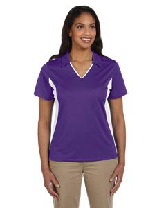 Team Purple/white Women's 3.8 oz. Side Blocked Micro Piqué Polo