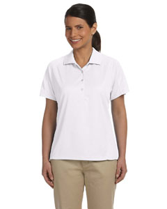 White Women's 3.8 oz. Polytech Mesh Insert Polo