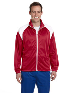 Red/white Men's Tricot Track Jacket