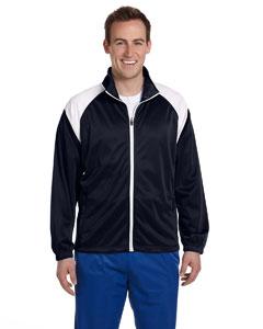Navy/white Men's Tricot Track Jacket