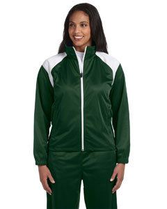Dark Green/white Women's Tricot Track Jacket