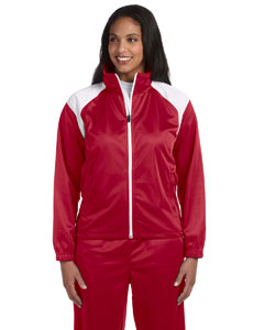 Red/white Women's Tricot Track Jacket