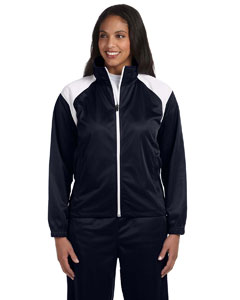 Navy/white Women's Tricot Track Jacket