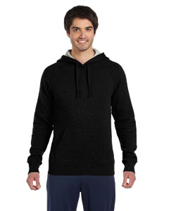 Black Unisex Performance Fleece Pullover Hoodie