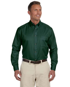 Hunter Men's Long-Sleeve Twill Shirt with Stain-Release