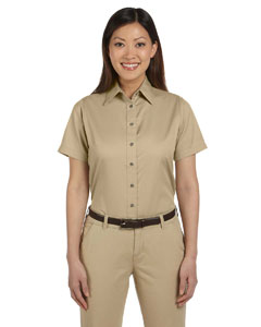 Stone Women's Short-Sleeve Twill Shirt with Stain-Release