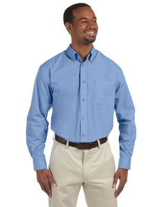 Light College Blue Men's Value Poplin